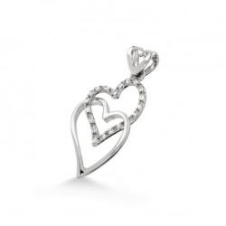 Pandantiv inimioara din aur 18K cu diamante 0,12 ct., model Orsini 0196CI