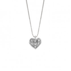 Lantisor din aur 18K cu pandantiv inima cu diamante 0,05 ct., model Orsini 0443CI
