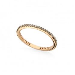 Inel eternity din aur roz 18K cu diamante brown 0,35 ct., model Orsini 2878G-BW