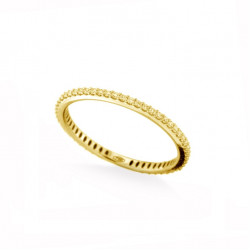 Inel eternity din aur 18K cu safir galben 0,41 ct., model Orsini 2878G-ZG