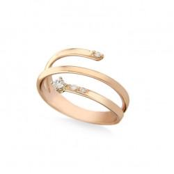 Inel din aur 18K cu diamante 0,09 ct., model Orsini 2882G