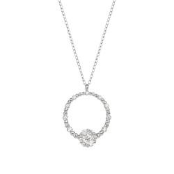 Lantisor din aur 18K cu pandantiv cu diamante 0,28 ct., model Orsini CI1727