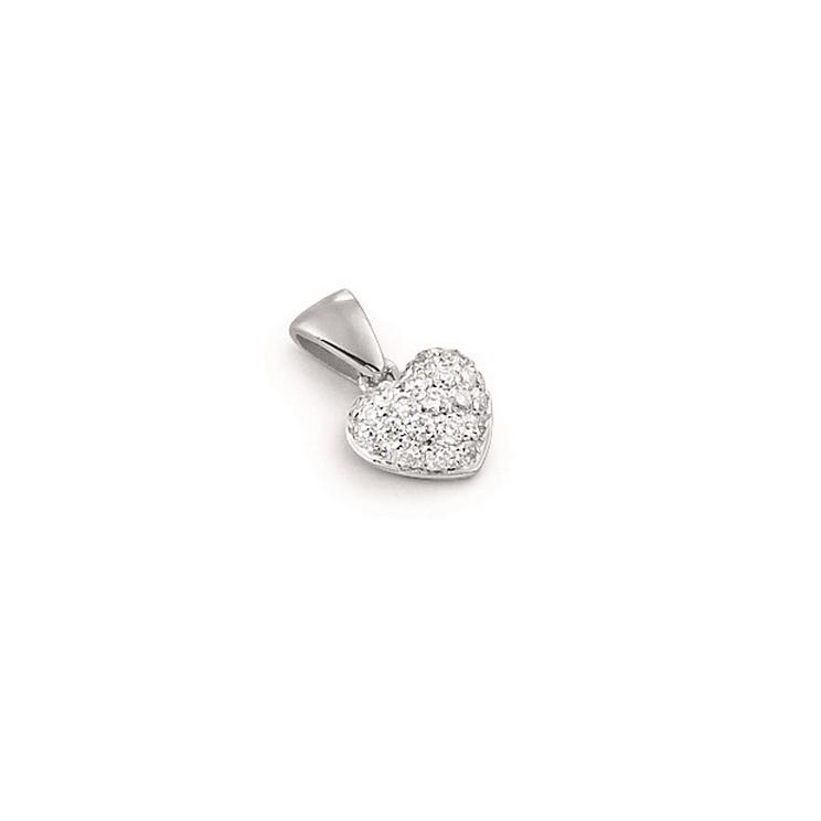 Pandantiv inimioara din aur 18K cu diamante 0,17 ct., model Orsini CI1235