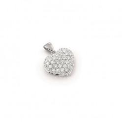 Pandantiv inimioara din aur 18K cu diamante 0,35 ct., model Orsini CI1236