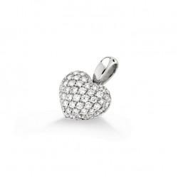 Pandantiv inimioara din aur 18K cu diamante 0,85 ct., model Orsini CI1237