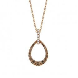 Lantisor din aur 18K cu pandantiv cu diamante 0,33 ct., model Orsini CI1639-BW1