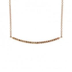 Lantisor din aur 18K cu pandantiv cu diamante 0,24 ct., model Orsini CI1679-BW