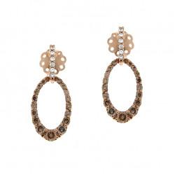 Cercei din aur roz 18K cu diamante 0,70 ct., model Orsini OR0563-BW1