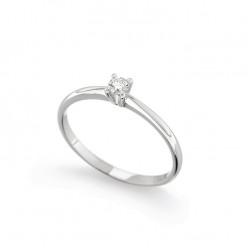 Inel de logodna din aur alb 18K cu diamant 0,05 ct., model Orsini 01012-05