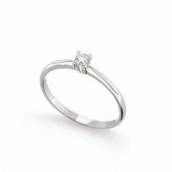 Inel de logodna din aur 18K cu diamant 0,08 ct., model Orsini 01012-08