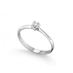 Inel de logodna din aur alb 18K cu diamant 0,10 ct., model Orsini 01016-10