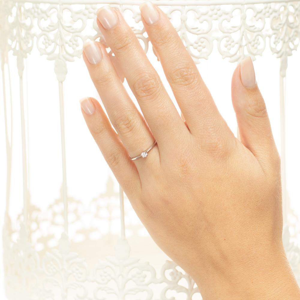 Inel de logodna din aur 18K cu diamant 0,10 ct., model Orsini 01016-10