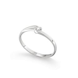 Inel de logodna din aur 18K cu diamant 0,05 ct., model Orsini 01022-05