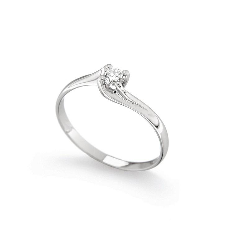 Inel de logodna din aur 18K cu diamant 0,15 ct., model Orsini 01027-15