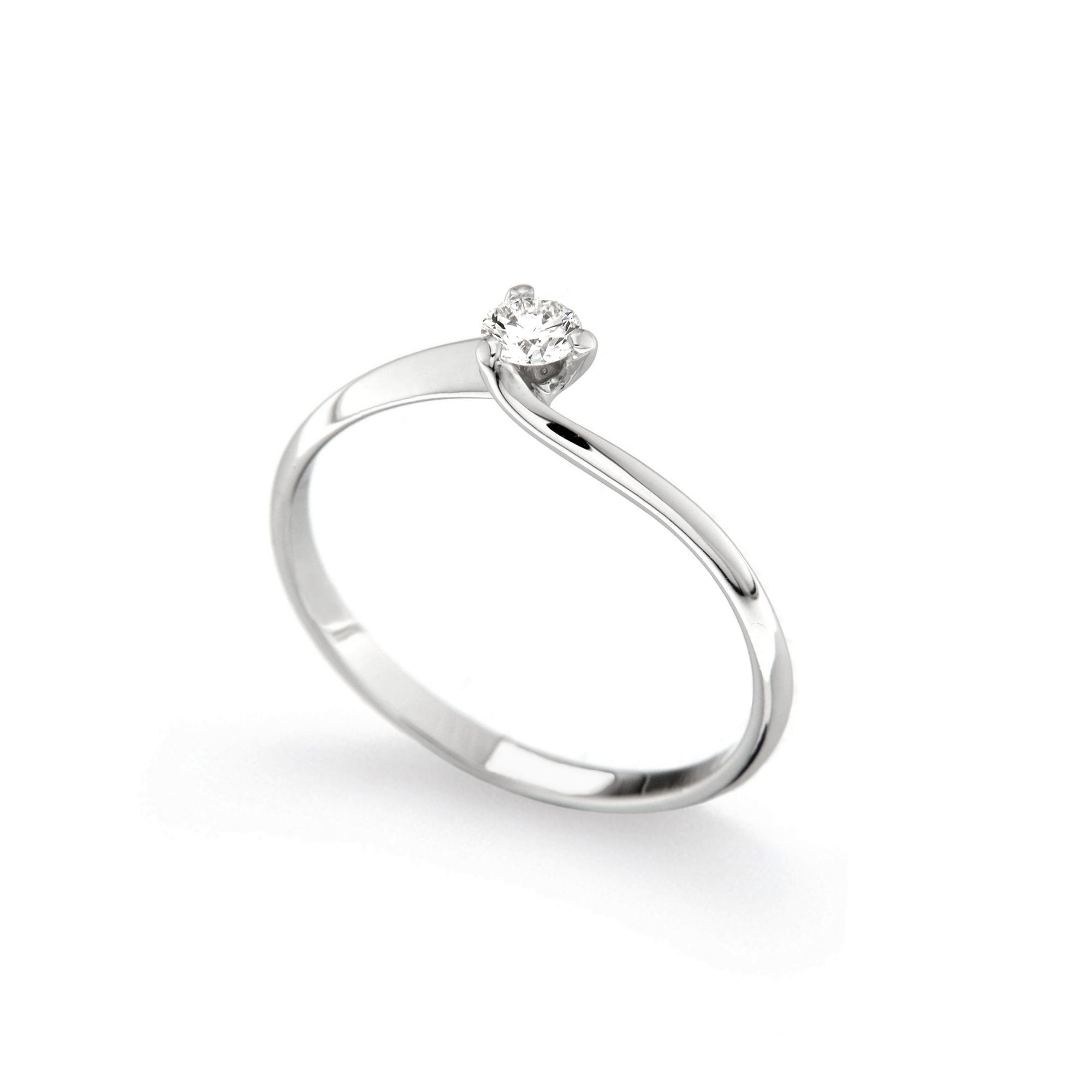 Inel de logodna din aur 18K cu diamant 0,15 ct., model Orsini 01028-15