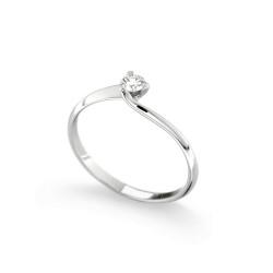 Inel de logodna din aur alb 18K cu diamant 0,15 ct., model Orsini 01028-15