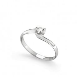 Inel de logodna din aur alb 18K cu diamant 0,20 ct., model Orsini 01042-20