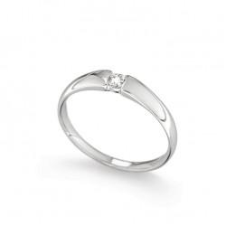 Inel de logodna din aur 18K cu diamant 0,10 ct., model Orsini 01047-10