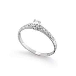 Inel de logodna din aur 18K cu diamante 0,23 ct., model Orsini 01048
