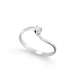 Inel de logodna din aur alb 18K cu diamant 0,10 ct., model Orsini 01056-10