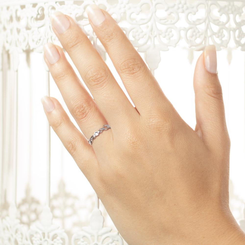 Inel din aur 18K cu diamant 0,01 ct., model Orsini 01074
