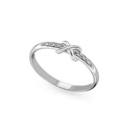 Inel din aur 18K cu diamante 0,03 ct., model Orsini 01075