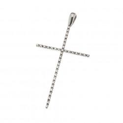 Pandantiv cruce din aur 18K cu diamante 0,28 ct., model Orsini 0123CI