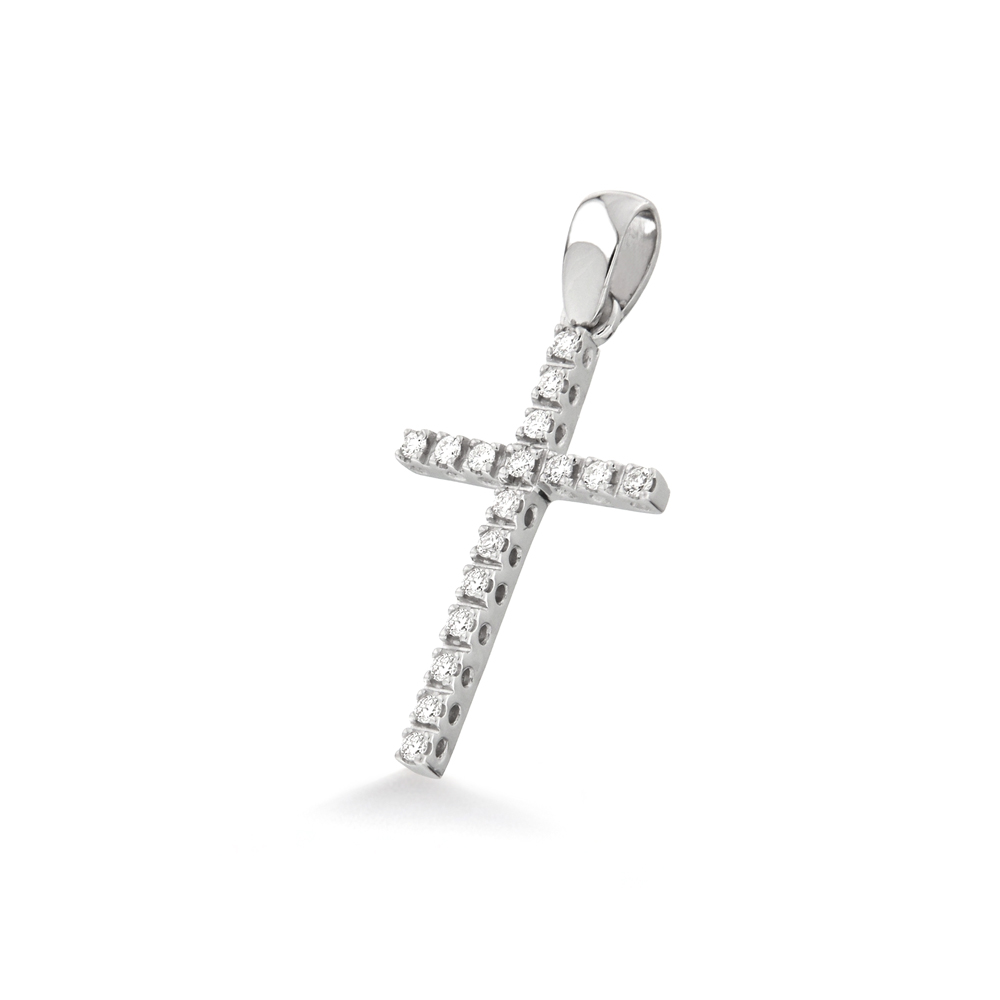 Pandantiv cruciulita din aur 18K cu diamante 0,13 ct., model Orsini 0131CI