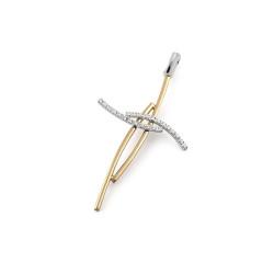 Pandantiv cruciulita din aur 18K cu diamante 0,07 ct., model Orsini 0167CI