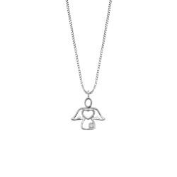 Lantisor din aur 18K cu pandantiv ingeras cu diamant 0,005 ct., model Orsini 0429CI