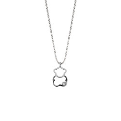 Lantisor din aur 18K cu pandantiv ursulet cu diamant 0,005 ct., model Orsini 0432CI