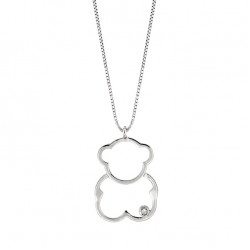 Lantisor din aur 18K cu pandantiv ursulet cu diamant 0,01 ct., model Orsini 0440CI