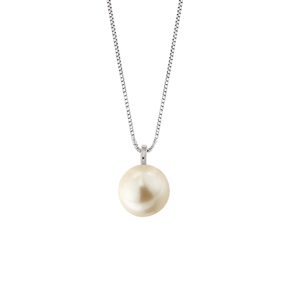 Lantisor din aur 18K cu pandantiv perla 0,60 gr., model Orsini 0460CI-03