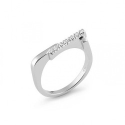 Inel din aur alb 18K cu diamante 0,07 ct., model Orsini 0763