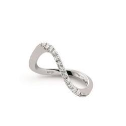 Inel din aur alb 18K cu diamante 0,10 ct., model Orsini 0806