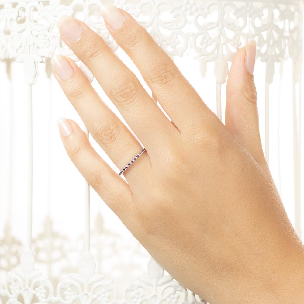 Inel eternity din aur 18K cu diamante negre 0,32 ct., model Orsini 0850-N