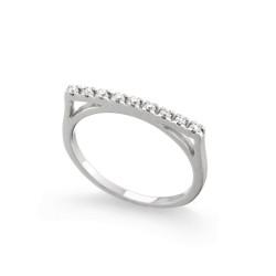 Inel din aur 18K cu diamante 0,09 ct., model Orsini 0851T