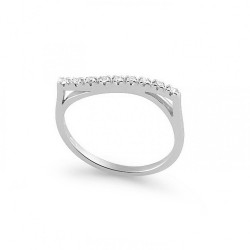 Inel din aur 18K cu diamante 0,09 ct., model Orsini 0852T