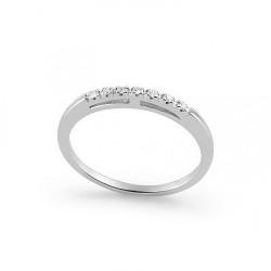 Inel din aur 18K cu diamante 0,07 ct., model Orsini 0853T
