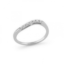 Inel din aur 18K cu diamante 0,07 ct., model Orsini 0854T