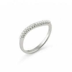 Inel din aur 18K cu diamante 0,09 ct., model Orsini 0900