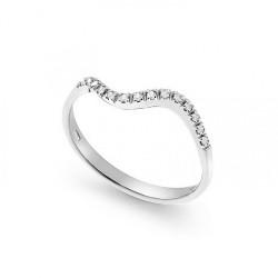 Inel din aur 18K cu diamante 0,07 ct., model Orsini 0953