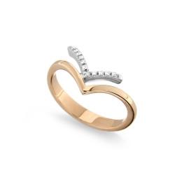 Inel din aur roz 18K cu diamante 0,06 ct., model Orsini 0962