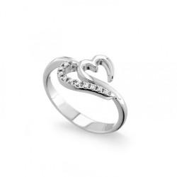 Inel din aur 18K cu diamante 0,05 ct., model inima, Orsini 0963