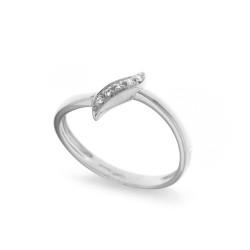 Inel din aur 18K cu diamante 0,03 ct., model Orsini 0985