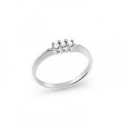 Inel din aur 18K cu diamante 0,09 ct., model Orsini 1401GL