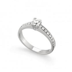Inel de logodna din aur 18K cu diamante 0,54 ct., model Orsini 1439G