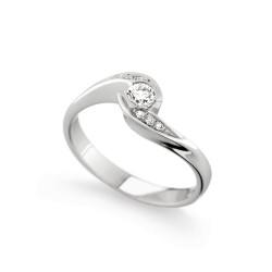 Inel de logodna din aur 18K cu diamante 0,23 ct., model Orsini 1440G