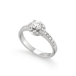 Inel de logodna din aur 18K cu diamante 0,45 ct., model Orsini 1441G