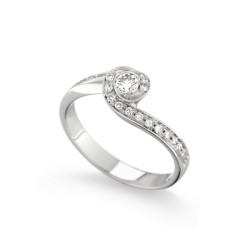 Inel de logodna din aur 18K cu diamante 0,32 ct., model Orsini 1462G